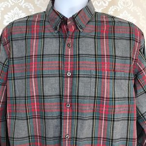 Men's J. Crew Tartan Grey Plaid Button-Down Shirt